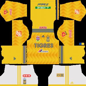 Tigres UANL Kits 2018/2019 Dream League Soccer