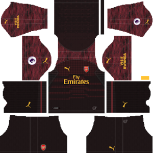 arsenal goalkeeper home kit 2018-2019 dream league soccer