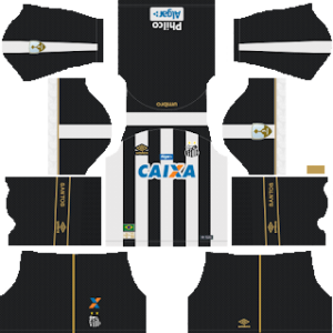 santos fc away kit 2018-2019 dream league soccer