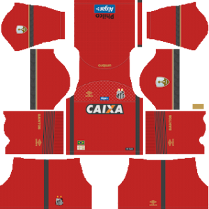 santos fc goakeeper away kit 2018-2019 dream league soccer
