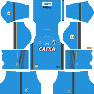 santos fc goakeeper home kit 2018-2019 dream league soccer