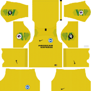 brigthon & hove albion goalkeeper away kit 2018-2019 dream league soccer