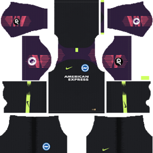 brigthon & hove albion goalkeeper home kit 2018-2019 dream league soccer