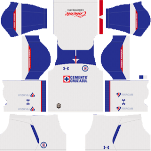 cruz azul away kit 2018-2019 dream league soccer