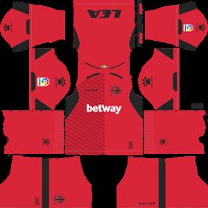 alaves goalkeeper away kit 2018-2019 dream league soccer