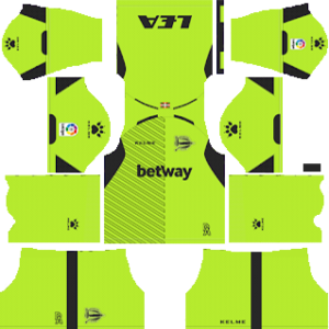 alaves goalkeeper home kit 2018-2019 dream league soccer