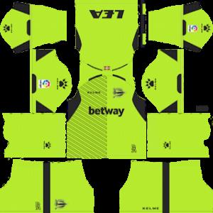 alaves goalkeeper home kit 2018-2019 dream league soccer