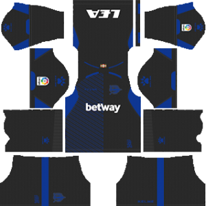 alaves goalkeeper third kit 2018-2019 dream league soccer