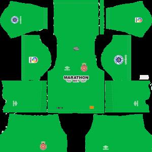 girona goalkeeper away kit 2018-2019 dream league soccer