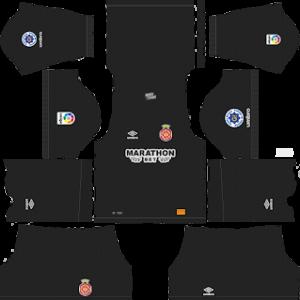 girona goalkeeper home kit 2018-2019 dream league soccer