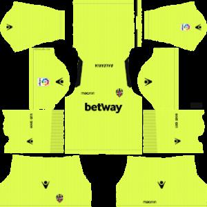 levante goalkeeper away kit 2018-2019 dream league soccer away
