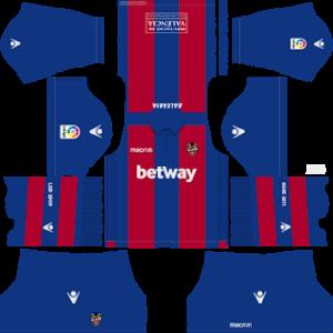Levante UD Kits 2018/2019 Dream League Soccer