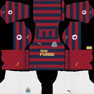 newcastle united away kit 2018-2019 dream league soccer