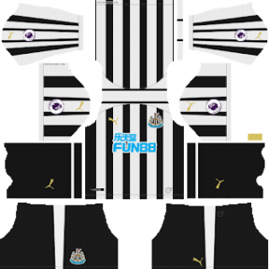 Newcastle United FC Kits 2018/2019 Dream League Soccer