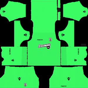PAOK FC goalkeeper home kit 2018-2019 dream league soccer