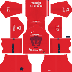 pumas unam goalkeeper away kit 2018-2019 dream league soccer