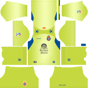 espanyol goalkeeper away kit 2018-2019 dream league soccer
