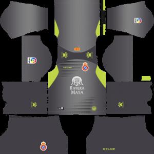 espanyol goalkeeper home kit 2018-2019 dream league soccer
