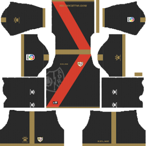 rayo vallecano away kit 2018-2019 dream league soccer