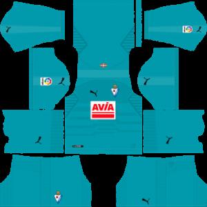 eibar puma goalkeeper away kit 2018-2019 dream league soccer