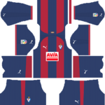 SD Eibar Kits 2018/2019 Dream League Soccer