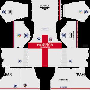 huesca away kit 2018-2019 dream league soccer