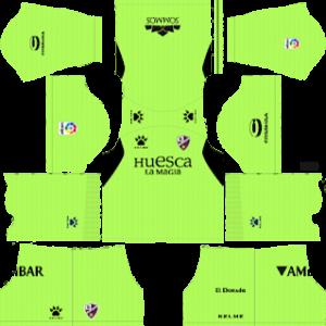 huesca goalkeeper away kit 2018-2019 dream league soccer