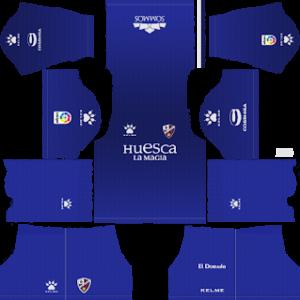 huesca goalkeeper home kit 2018-2019 dream league soccer