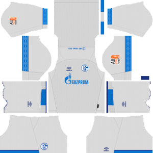 schalke 04 away kit 2018-2019 dream league soccer