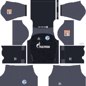 schalke 04 goalkeeper home kit 2018-2019 dream league soccer