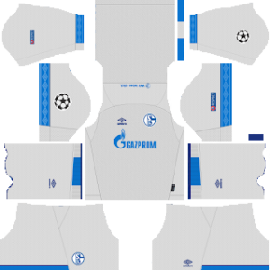 schalke 04 ucl away kit 2018-2019 dream league soccer