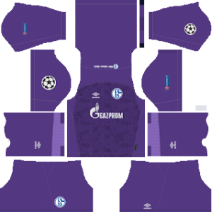 schalke 04 ucl goalkeeper away kit 2018-2019 dream league soccer