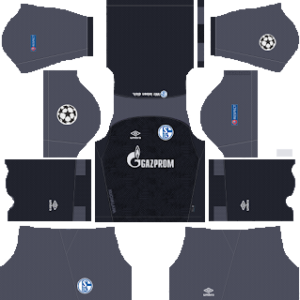 schalke 04 ucl goalkeeper home kit 2018-2019 dream league soccer