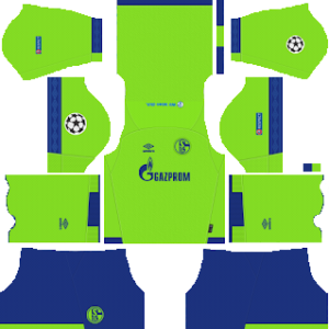 schalke 04 ucl third kit 2018-2019 dream league soccer