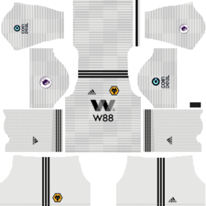 wolverhampton wanderers fc away kit 2018-2019 dream league soccer