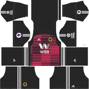 wolverhampton wanderers fc goalkeeper away kit 2018-2019 dream league soccer