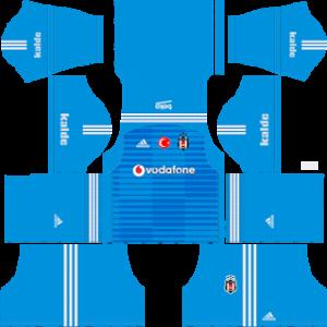 beikstas jk goalkeeper home kit 2018-2019 dream league soccer