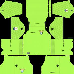 ss lazio goalkeeper away kit 2018-2019 dream league soccer