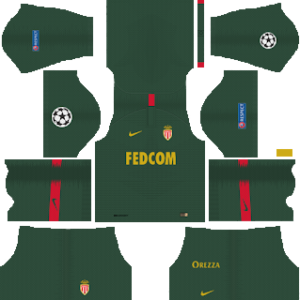 as monaco ucl away kit 2018-2019 dream league soccer