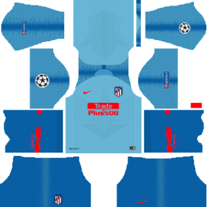 atletico madrid ucl away kit 2018-2019 dream league soccer