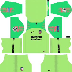atletico madrid ucl goalkeeper away kit 2018-2019 dream league soccer