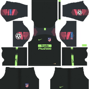 atletico madrid ucl goalkeeper home kit 2018-2019 dream league soccer