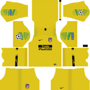 atletico madrid ucl goalkeeper third kit 2018-2019 dream league soccer