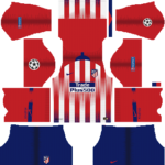 Atletico Madrid UCL Kits 2018/2019 Dream League Soccer