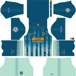 atletico madrid ucl third kit 2018-2019 dream league soccer