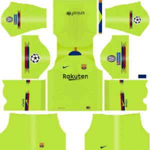 barcelona UEFA away kit 2018-2019 dream league soccer