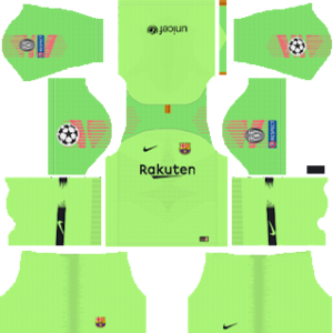 barcelona UEFA goalkeeper away kit 2018-2019 dream league soccer