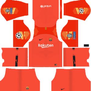 barcelona UEFA goalkeeper third kit 2018-2019 dream league soccer