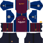 Barcelona UEFA Badge Kits 2018/2019 Dream League Soccer