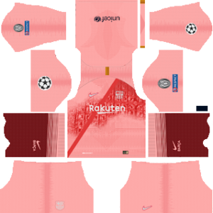 barcelona UEFA third kit 2018-2019 dream league soccer